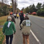 Walkers from the First Congregational Church of Stockbridge on State Road in Great Barrington