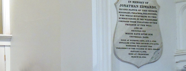 Jonathan Edwards memorial plaque