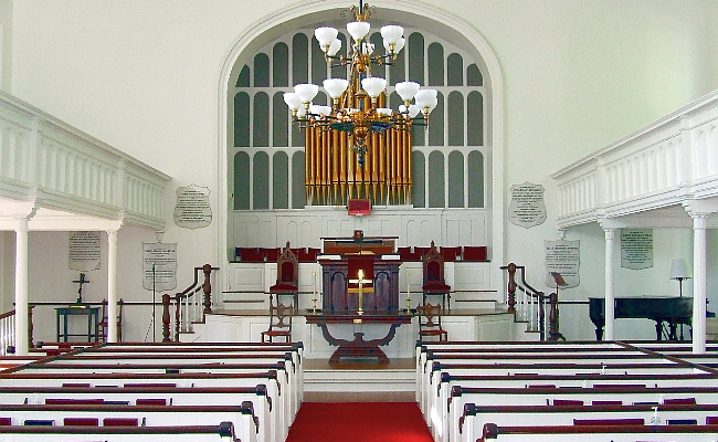 Sanctuary of the First Congregational Church of Stockbridge