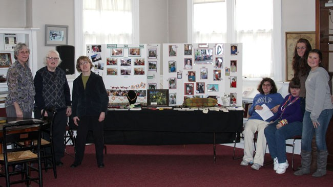 Women from the Riverbrook residence display their handmade crafts