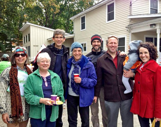 First Congregational Church of Stockbridge's walkers at the Construct WALK finish line